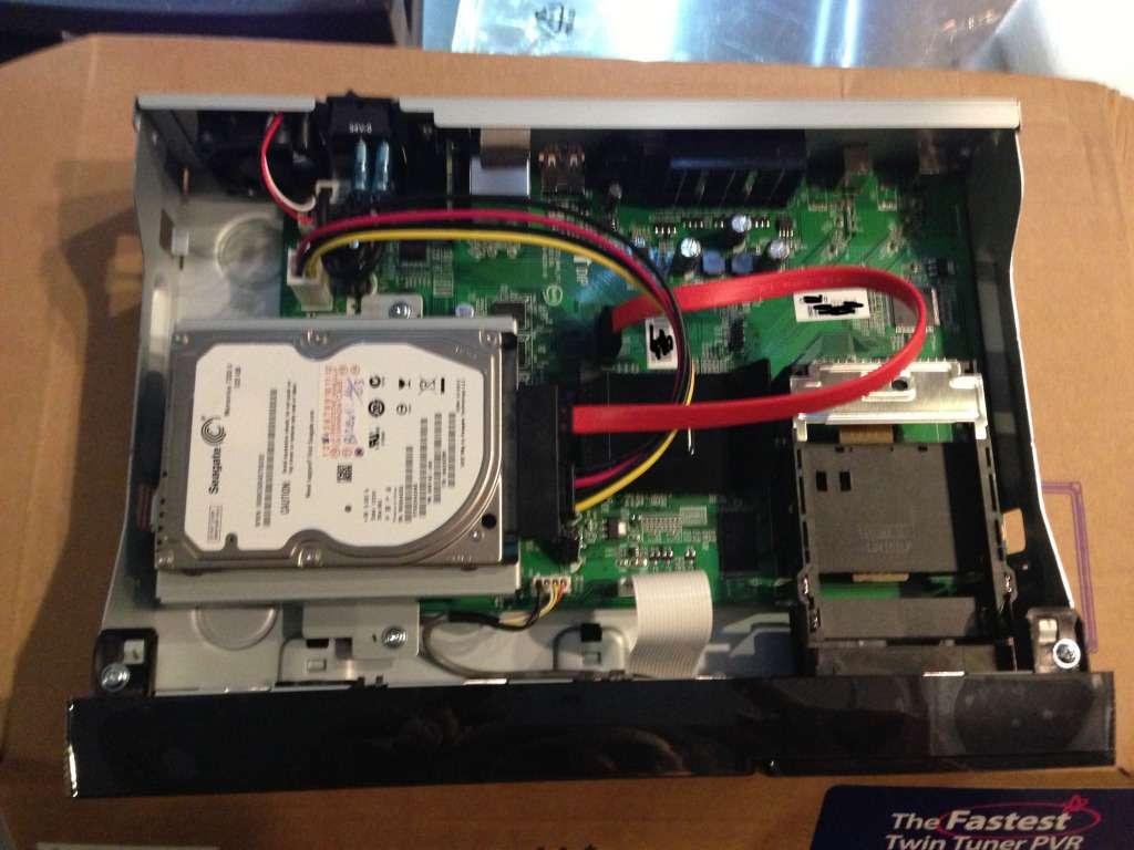 Montáž pevného disku do přijímače